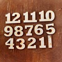 Deutsche Zahlen 1 bis 12 aus Holz 30 mm Höhe Uhr Basteln Deko Arabische Ziffern