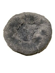 PetDreams CosyDream™ Dark Grey Pet (Dog / Cat) Doughnut Bed, Size M 60cm / 24''