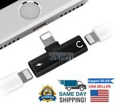 2 in 1 Lightning Adapter Headphone Splitter Jack Audio For iPhone 7 8 XR MAX 11
