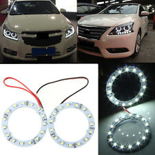 2X 60mm White 15 LED SMD Car Ring Angel Eyes HeadLight Halo Ring Light Bulb 12v