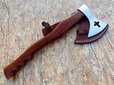Custom HandMade Tomahawk Battle High Carbon Axe Hatchet with Leather Sheath 2303