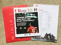 Manchester United V Manchester City Premier League 2019 Programme &  Team Sheet