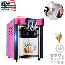 Us Sell Soft ice cream making machine Desktop small automatic drum 3 flavors
