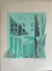 Danilo Bergamo serigrafia Laguna Azzurra 70x50 firmata numerata 100 esemplari