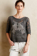 NWT Anthropologie Crochet Stitch Pullover by knitted and knotted size S $158