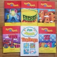 Lot of 6 Texas Instruments Speak & Spell Books Fun with Noun vintage