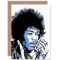 Photo Painting Rock Legend Jimi Hendrix Graphic Blank Greeting Card