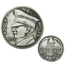 WW2 WWII German 5RM Adolf Hitler 1935 Coin Third Reich Nazi Commemorative Coin