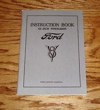 1933 Ford V-8 Instruction Book Owners Operators Manual 112 Inch Wheelbase 33
