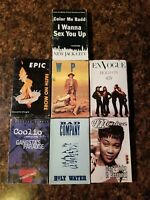Lot of 7 Cassette Tape Singles R&B Pop Rap En Vogue Coolio Epic Bad Company