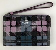 "*NEW ""COACH"" CORNER ZIP WRISTLET SHADOW PLAID PRINT - WITH TAGS ATTACHED!!!"