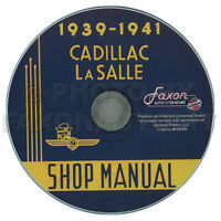 1939 1940 1941 Cadillac and LaSalle Shop Manual on CD Repair Service La Salle