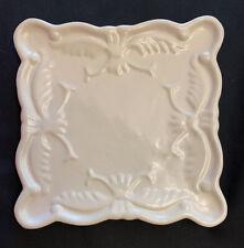California Pantry Classic Ceramics White Square Trivet Plate Dated 2007