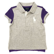 0b7cf2983 Genuine Ralph Lauren Grey purple Cotton Mesh Polo Shirt Girls Age 3 Years