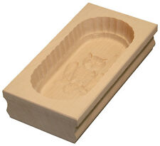 Butterform - Buttermodel - Buttersturzform aus Ahornholz Eule Motiv 250 g