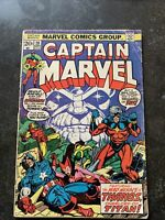 Captain Marvel #28 Avengers 1973 Captain America Iron Man