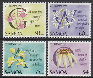 Samoa 1992 Christmas - Flowers and Carols