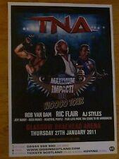 TNA Wrestling Glasgow 2011 Poster Rob Van Dam, Ric Flair, AJ styles