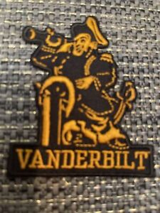 "Vanderbilt University Commodores Vintage Embroidered Iron On Patch 3"" X 2.5"""