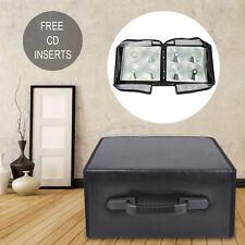 400 Disc CD/DVD Storage Box Bluray Storage Holder Carry Case-Black