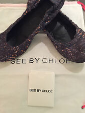 PREOWNED 100% AUTHENTIC SEE BY CHLOE BALLERINA FLATS!!! SIZE 7 !!