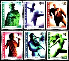 SELLOS  CINE. NUEVA ZELANDA 1998  1584/89 PERFORMING & ARTS 6v