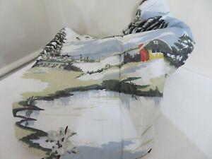 Pottery Barn Cozy Cabin Reversible Pillow Sham KING Ski Lodge Plaid SAMPLE