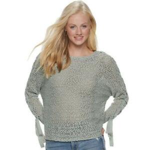NEW Rewind XXL 2XL Seafoam Green Lace Up Sweater Top