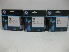 HP 72 Printhead New Genuine ** SET OF 3 ** SHIPS OVERBOXED *** Date: 2017 / 2018