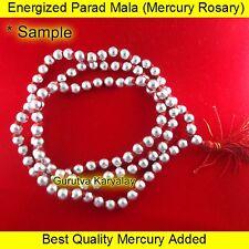 ENERGIZED PARAD MALA (6 MM-108+1 BEADS) PARAD ROSARY MERCURY MALA PARAD GUTIKA