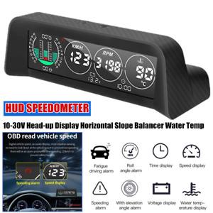 1×Car SUV Head-up Display HUD Speedometer Horizontal Slope Balancer Time Display