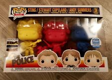 THE POLICE Pop! 3 Pack EXCLUSIVE Vinyl Figures FUNKO SHOP Coloured SYNCHRONICITY