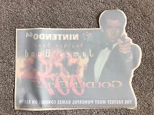 "1997 ULTRA RARE Nintendo N64 Goldeneye Advertising ""Window Sticker"" Poster 007"