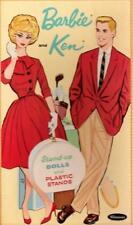 Vintage Uncut 1962 Barbie & Ken Paper Dolls~#1 Reproduction~Large Wardrobe~Nice!
