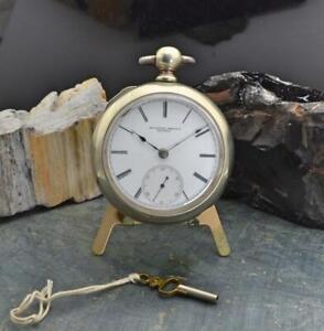 Rockford Watch Co. Model 1 Pocket Watch w/ Key 18s, 9J - Running -