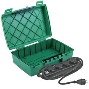 Sicherheitsbox Verteiler Box IP55 4x Steckdosenleiste IP44 Garten Set wetterfest