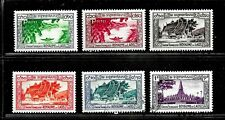 HICK GIRL- BEAUTIFUL M&U. LAOS STAMPS    1951-52  ISSUES     E1034