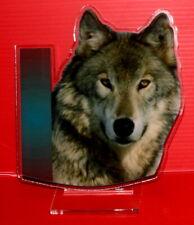statuette photosculptée 10x15 cm animaux loup 4  wolf lobo