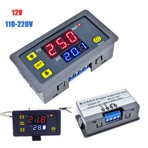 AC110V-220V DC12V Digital LED Dual Display Cycle Timing Delay Timer Relay Module