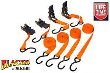 Blue spot tools - 4 Pack 25mm X 4.5m Trinquete amarre Correas, Moto, Atv, Moto