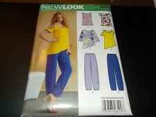 New Look Pattern 6109 Ms Pullover Tops w/Hem & Sleeve Opts & Pull-On Pants 8-18