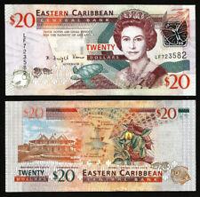 East Caribbean 20 Dollars 2008, UNC, P-48 ,QEII, Prefix LF
