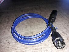 QUAD 33,34,44 TO 303.405 VAN DAMME HQ OFC SILVER PLATED 4 PIN TO 4 PIN DIN CABLE