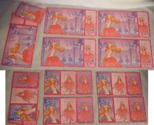 Kids Exchange Valentine Cards Barbie Princess Ballet Ballerina Pink Glitter x33