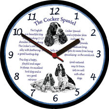 Cocker Spaniel Large Wall Clock - Dog Breed Origins Animal Facts