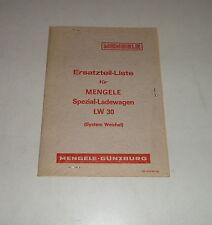 Teilekatalog / Ersatzteilliste Mengele Spezial-Ladewagen LW30