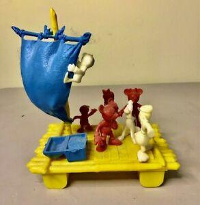 Ideal 1953 RARE Pirate Ship Disney Disneyland RAFT Mickey Mouse!!