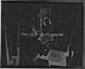 Pretty 40's Woman At The Mirror FOUND NEGATIVE Vintage B + W Photo N 011 11 C