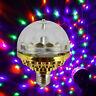 Home Disco E27 Magic Crystal Ball Lamp RGB Rotating LED Stage Light Party Bulb