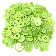 Green 100 Gram Mix Acrylic & Resin Buttons For Cardmaking Embellishments